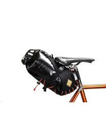 Restrap Carry Saddle bag & Dry bag- Black/Orange